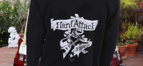 hard attack siebdruck hoodies bedrucken