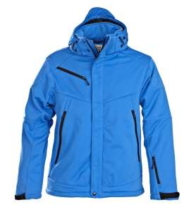Skeleton Softshelljacke bedrucken - Blau