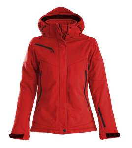 Skeleton Softshelljacke Damen bedrucken - Rot