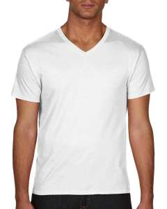 Adult Featherweight V-Neck T-Shirt - White