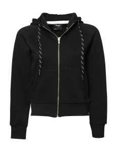 Ladies Hooded Zip Sweat Black