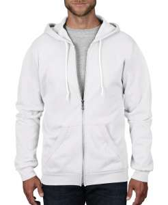 Adult Fashion Full-Zip Hooded Sweat White