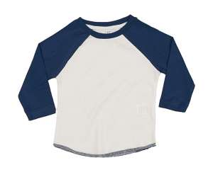Baby Superstar Baseball T Washed White/Swiss Navy