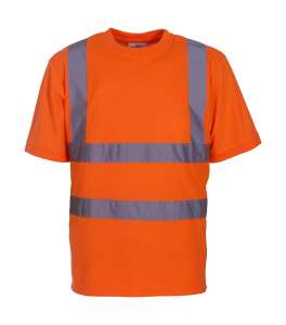 Fluo Unisex Arbeits T-Shirt bedrucken - Orange