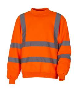 Fluo Sweatshirt Fluo Orange