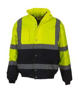 Fluo 2-Tone Bomber Jacket Fluo Yellow/Navy