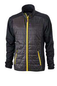 Men's Hybrid Jacket Black/black/yellow