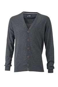 Men's Cardigan Anthracite-melange