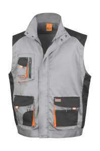 LITE Gilet Grey/Black/Orange