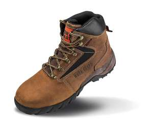 Carrick Safety Boot Brown/White/Grey