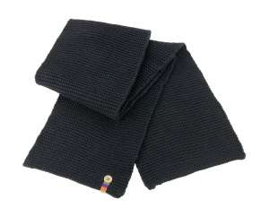 Button Trim Scarf Black