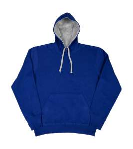 Contrast Hoodie bedrucken -  Royal/Light Oxford