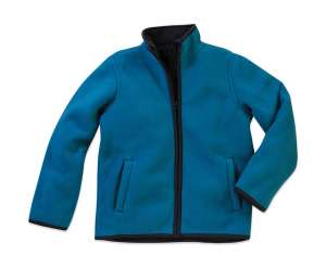 Active Teddy Fleece Jacket Kids Hawaii Blue