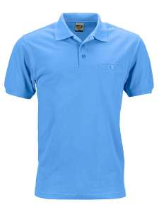 Men´s Workwear Polo Pocket Aqua