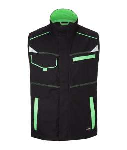 Workwear Vest-Level 2 Black/lime-green
