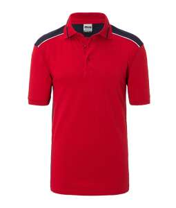 Men's Workwear Polo-Level 2 Red/navy
