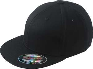 Flexfit® Flat Peak Cap Black