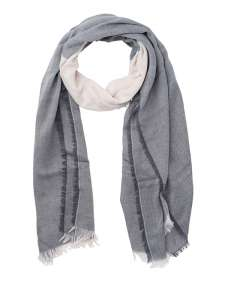 3-coloured Scarf Denim/off-white