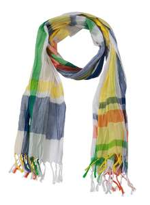 Coloured Scarf Azur/yellow/orange