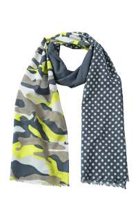 Camouflage Scarf Black-melange/light-grey