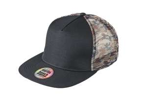 5 Panel Mesh Cap Camouflage Black/mesh-camouflage