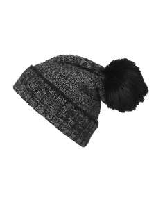 Ladies' Melange Beanie Coal-black/grey