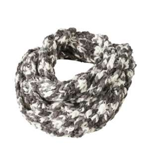 Coarse  Loop Scarf Carbon/off-white