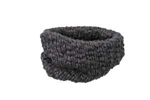 Coarse Knitted Loop Scarf Coal-black