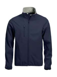Basic Softshell Jacke bedrucken -  Dark-navy