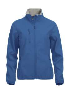 Basic Softshelljacke Damen bedrucken - Royalblau